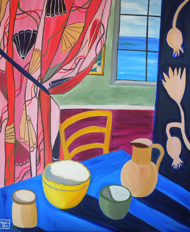 £1676. Acrylic on canvas  The room by VIRGINIA DI SAVERIO