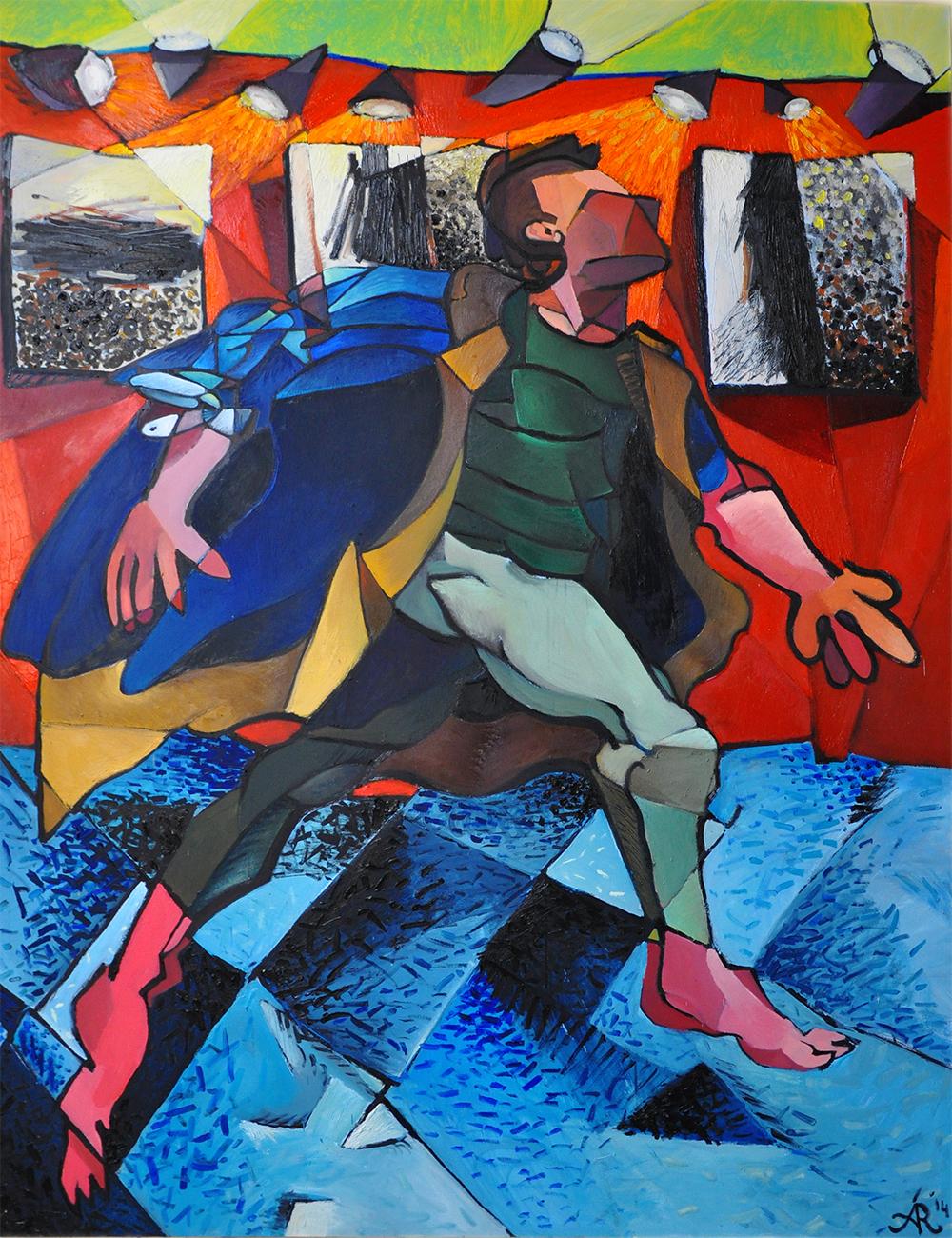£3,800. Mixed media on canvas  The Drunk Dancer by Alexandra Ramirez