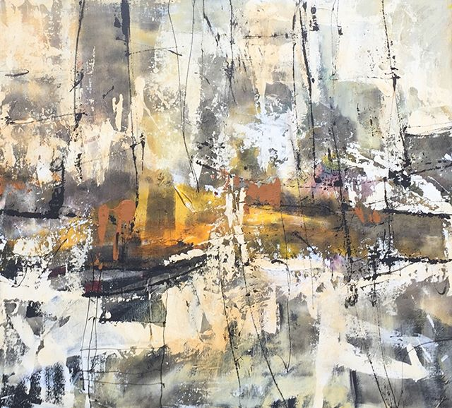 BERNADETTE ZEGGERS, Untitled 1  Bernadette is our latest artist. Her  paintings are expressionist compositions, in which painterly movement and emphatic use of color are central.  #abstractart #abstractpaintings #contemporaryart