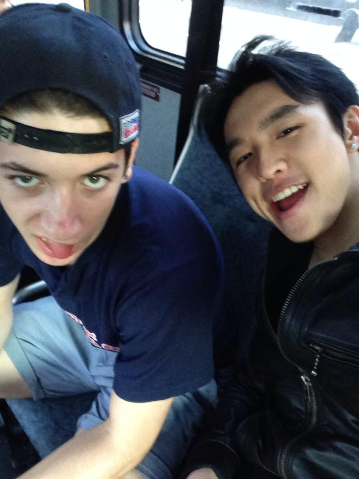 Alex and I chilling on the bus