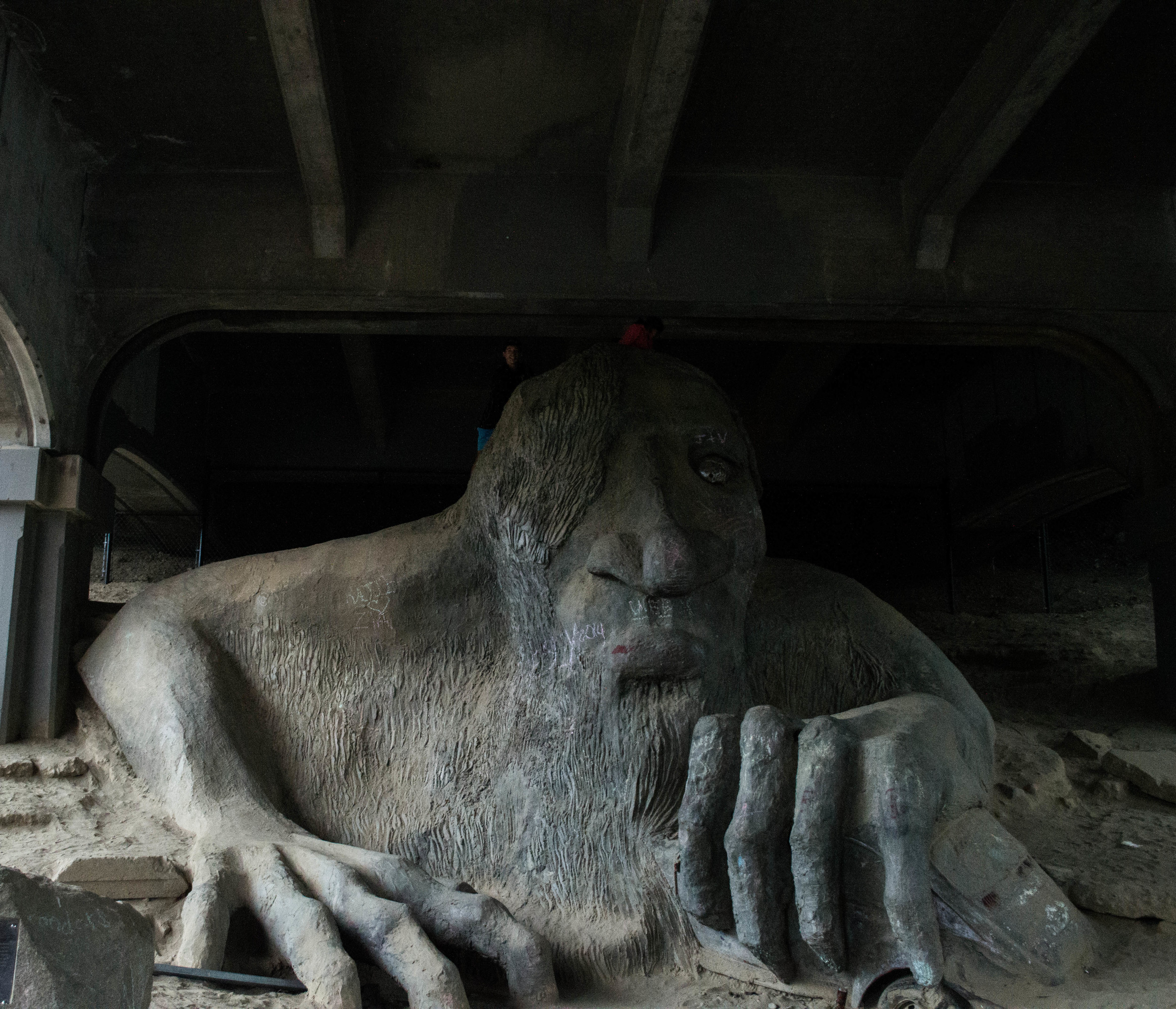 Me on top of the Troll under the bridge in Fremont