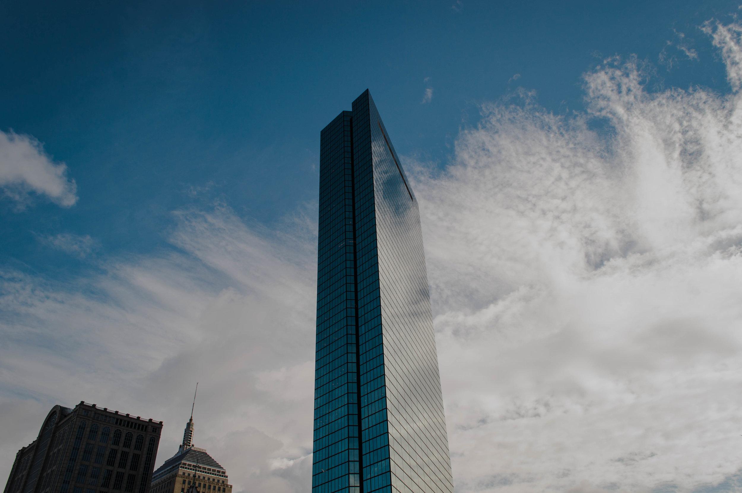The John Hancock Tower in Boston