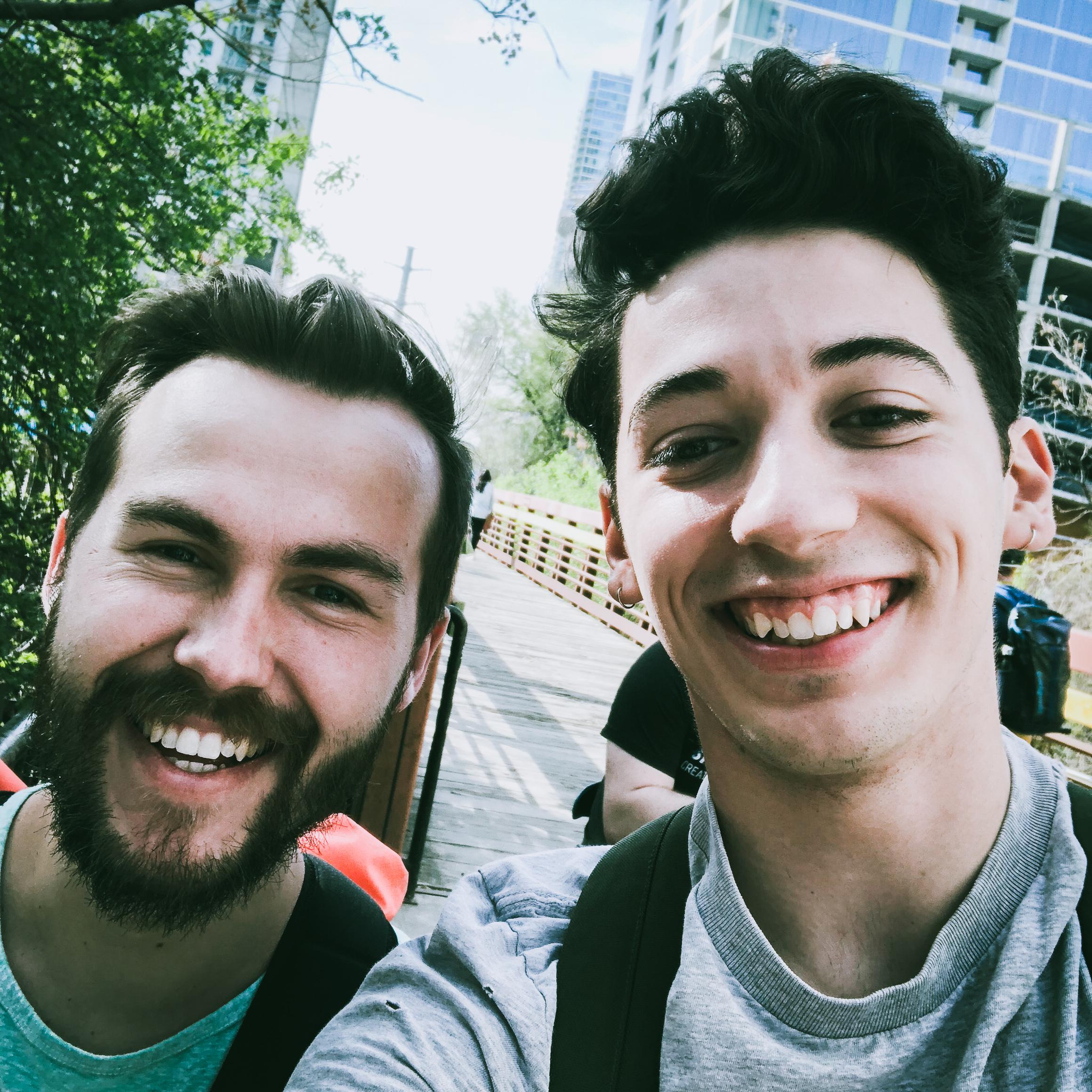 Matthew Gattozzi with Instagrammer Jesse Driftwood