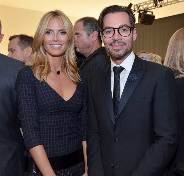 Matching perfectly with Heidi Klum at the event