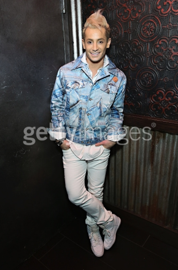 Frankie Grande attends the 2015 Trevor Project NextGen Fall Fete at Marquee on 11.13.15 wearing Fleur'd Pins.png
