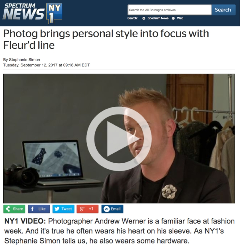 Photographer Andrew Werner on NY1 discussing Andrew Werner Photography and Fleur'd Pins.jpg