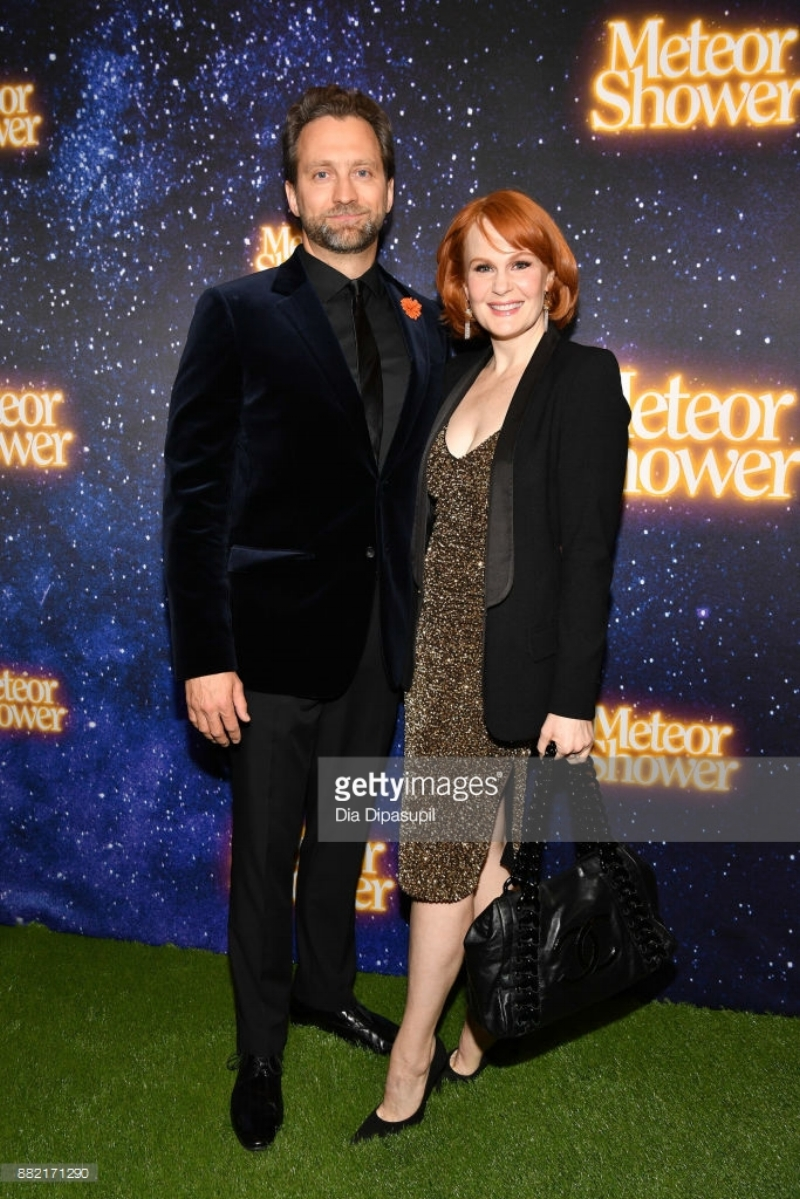 Graham Rowat (L) and Kate Baldwin attend the 'Meteor Shower' Broadway Opening Night at the Booth Theatre on November 29, 2017 in New York City