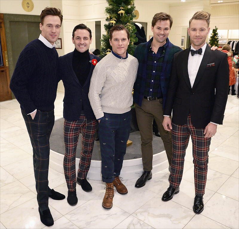 Erich Bergen, Max von Essen,  Michael Doyle, Andrew Rannells, and Christopher Hanke