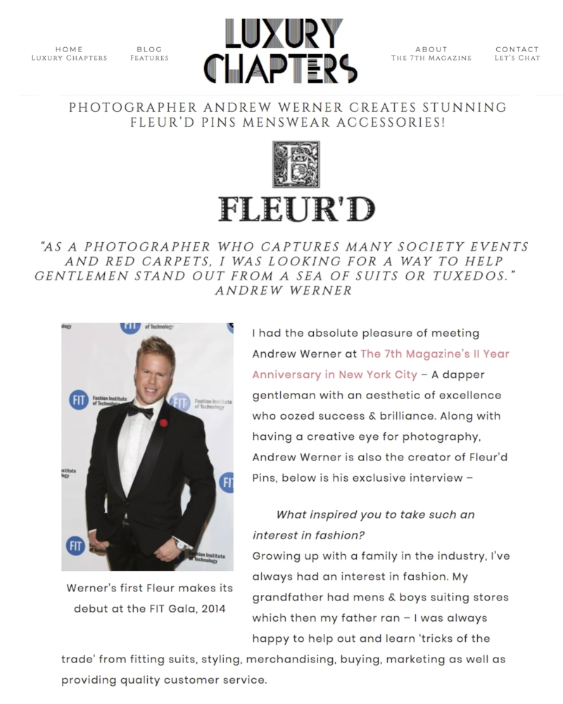 Luxury Chapters Interviews Photographer Andrew Werner on Fleur'd Pins - page 1.jpg