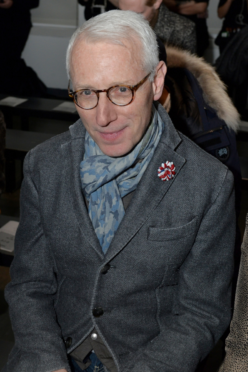 Guy Trebay attends Todd Snyder NYFWmens FW18 2.5.18 wearing Fleur'd Pins - photo by Andrew Werner.jpg