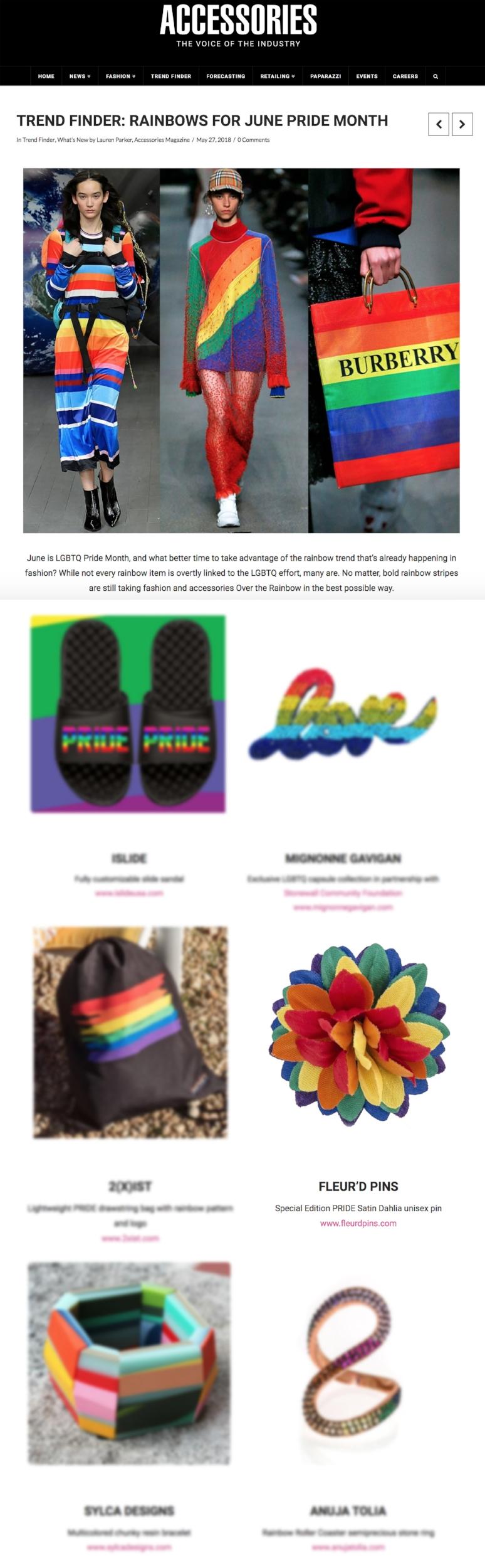 Accessories Magazine PRIDE write up - Fleur'd Pins Rainbow Fleur.jpg