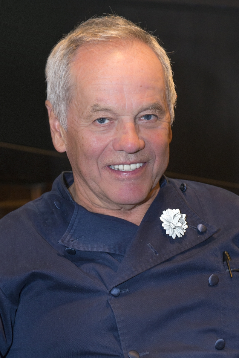 Chef Wolfgang Puck wearing Fleur'd Pins White Leather Dahlia - photo by Andrew Werner.jpg