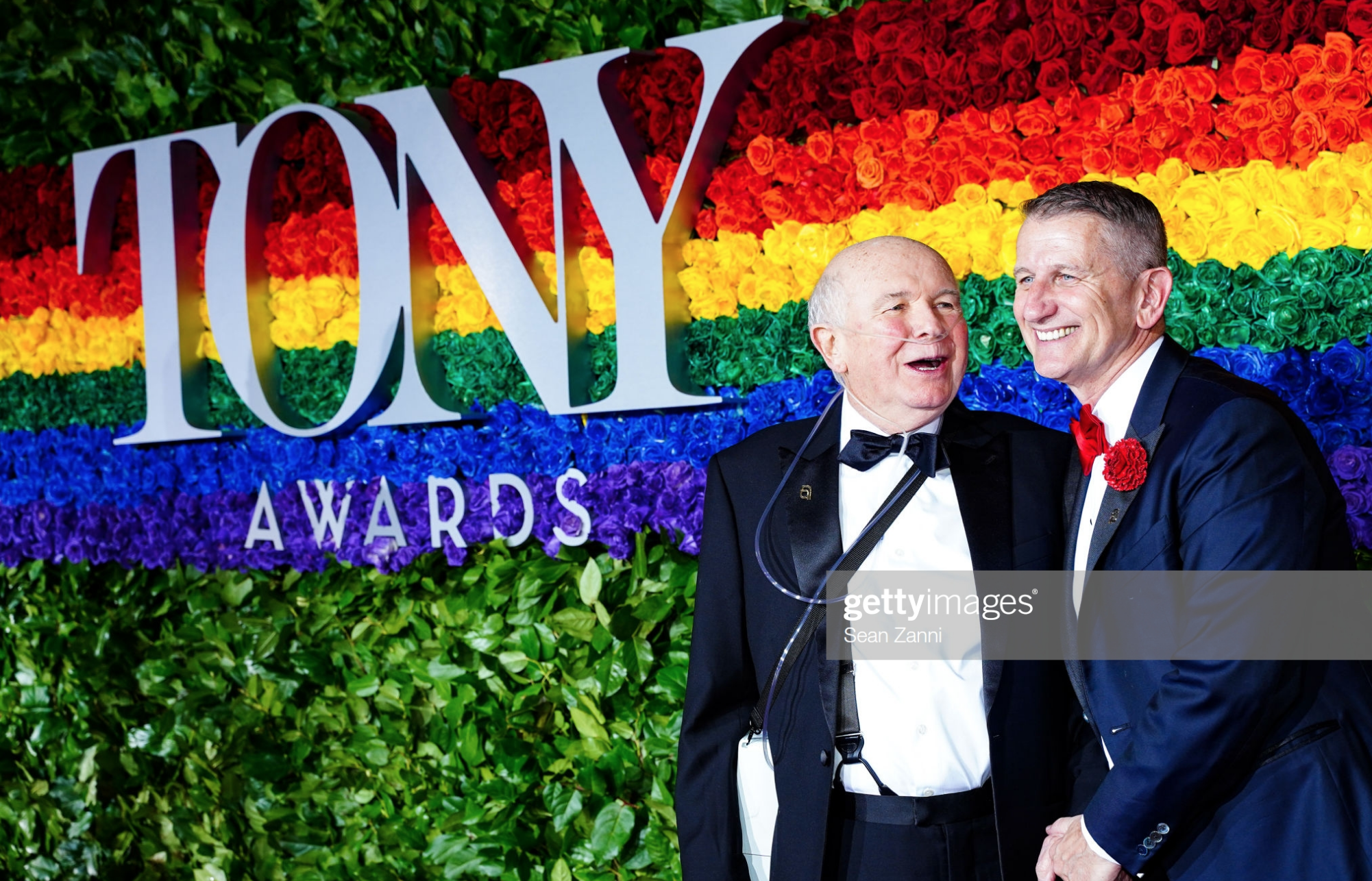 Terrence McNally and Tom Kirdahy attend the 2019 Tony Awards at Radio City Music Hall on June 9, 2019 in New York City - Photo by Taylor Hill for FilmMagic