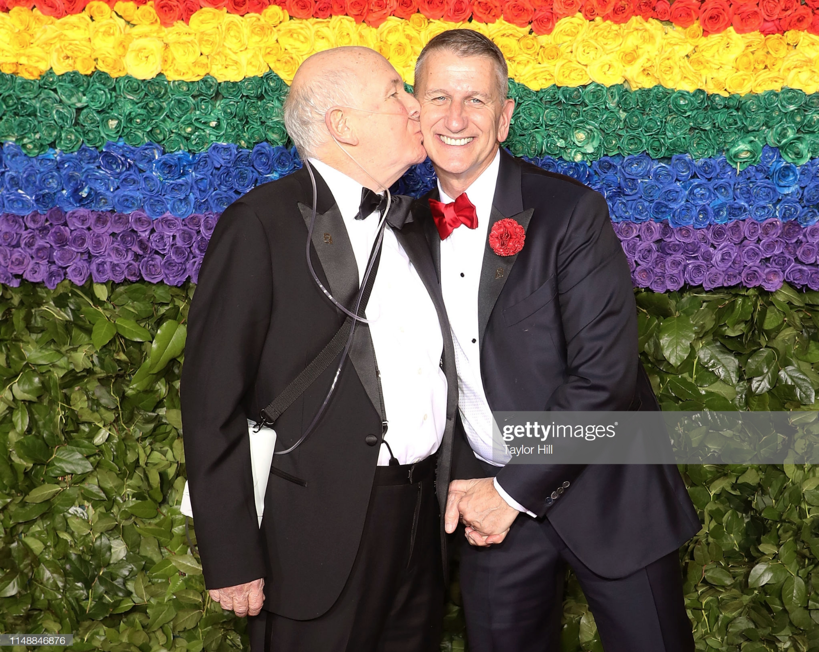 Terrence McNally and Tom Kirdahy attend the 2019 Tony Awards at Radio City Music Hall on June 9, 2019 in New York City