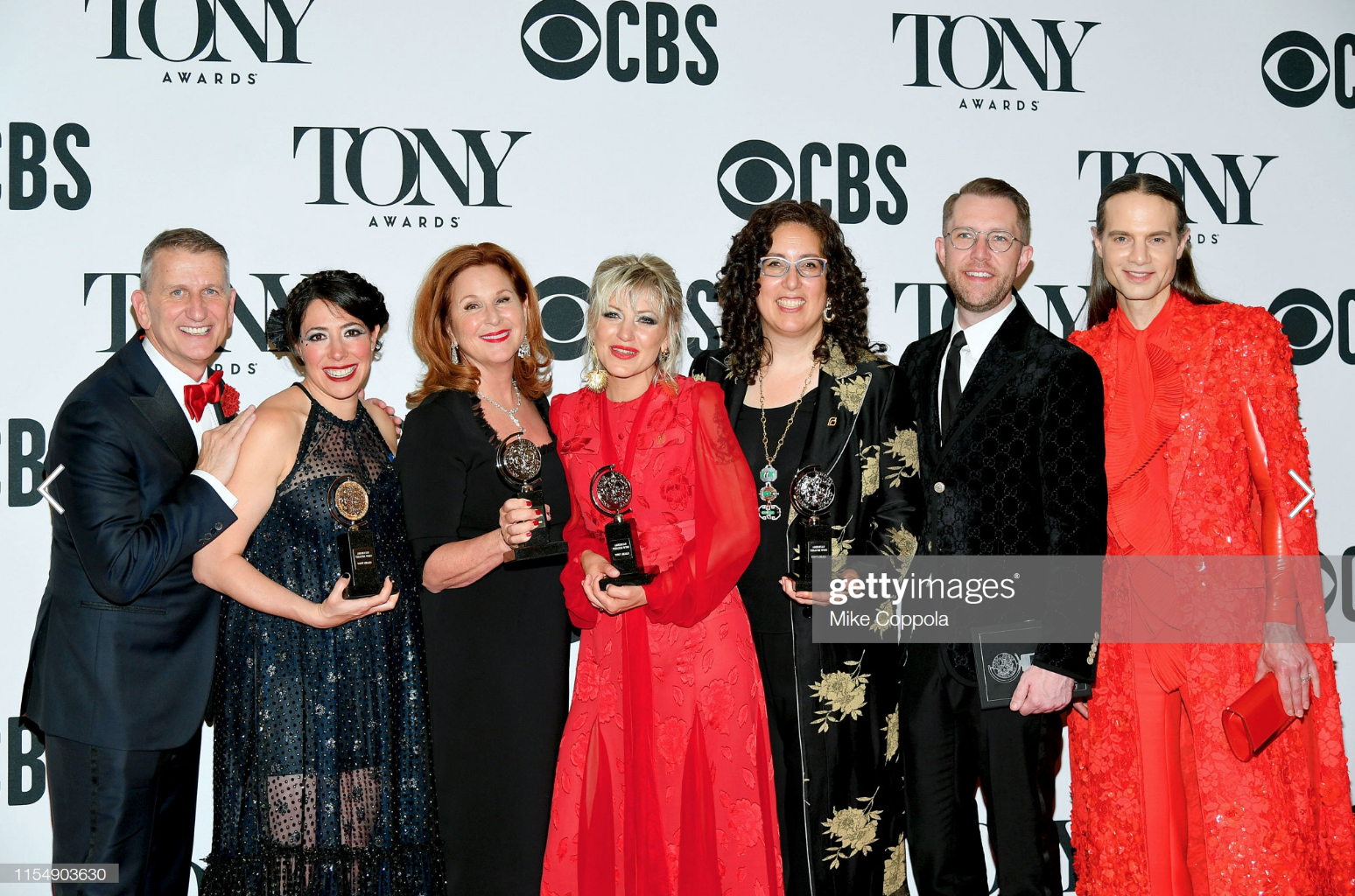 "The team from Hadestown, winner of the award for Best Musical for ""Hadestown,"" poses in the press room for the 73rd Annual Tony Awards at 3 West Club on June 9, 2019.png"