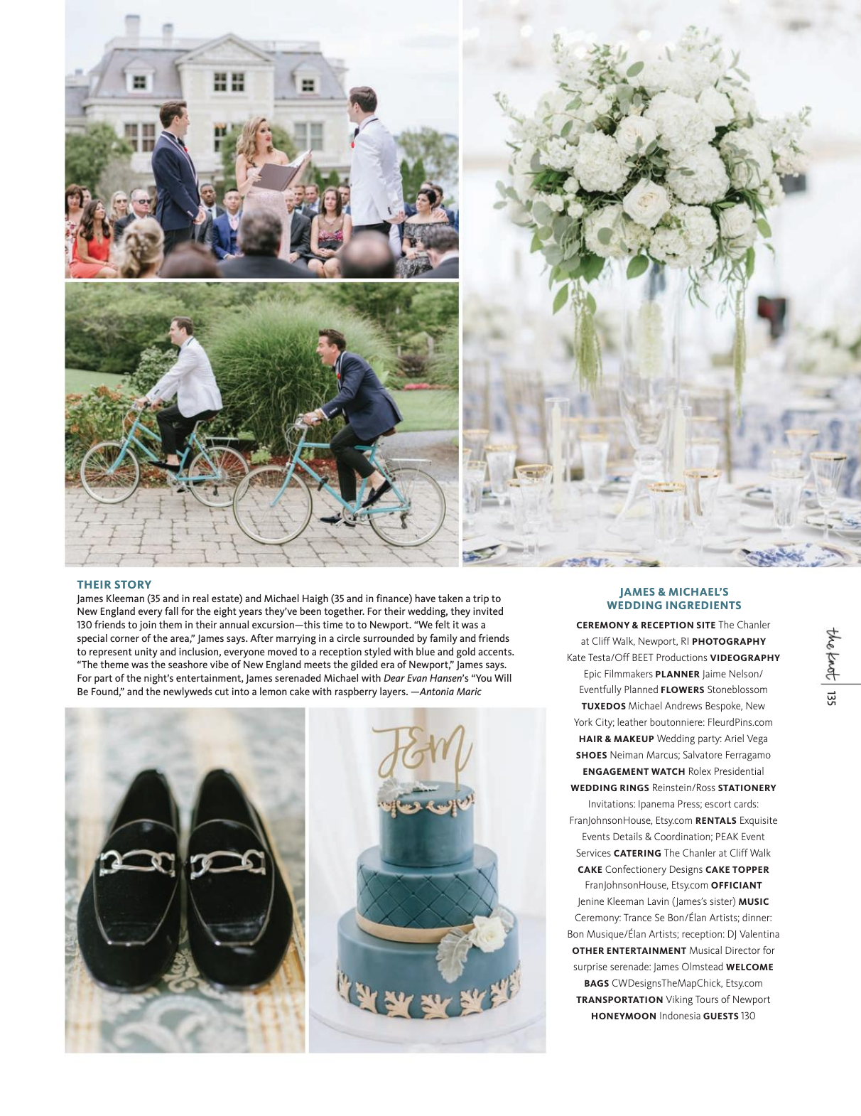 James and Michael Wedding featuring Fleur'd Pins Red Leather Ella Roses in The Knot 2019 page 2.png