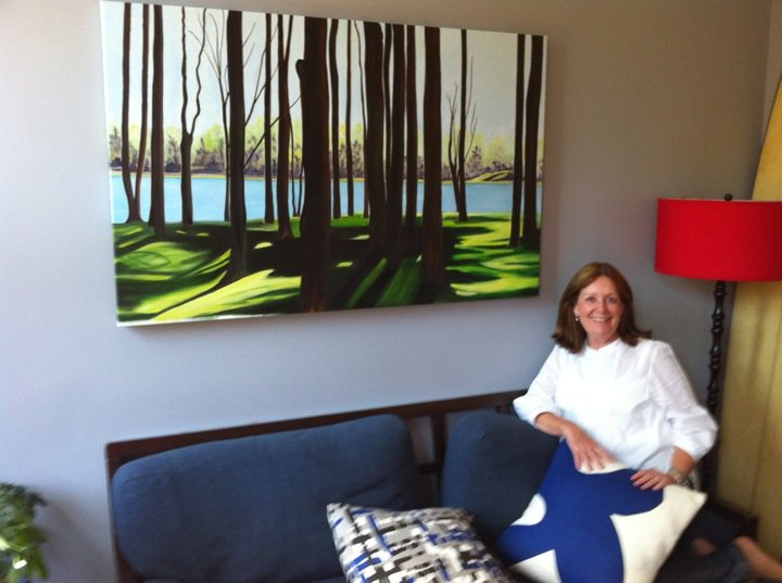 Juliann Bannon, fine artist at home of client in New York.