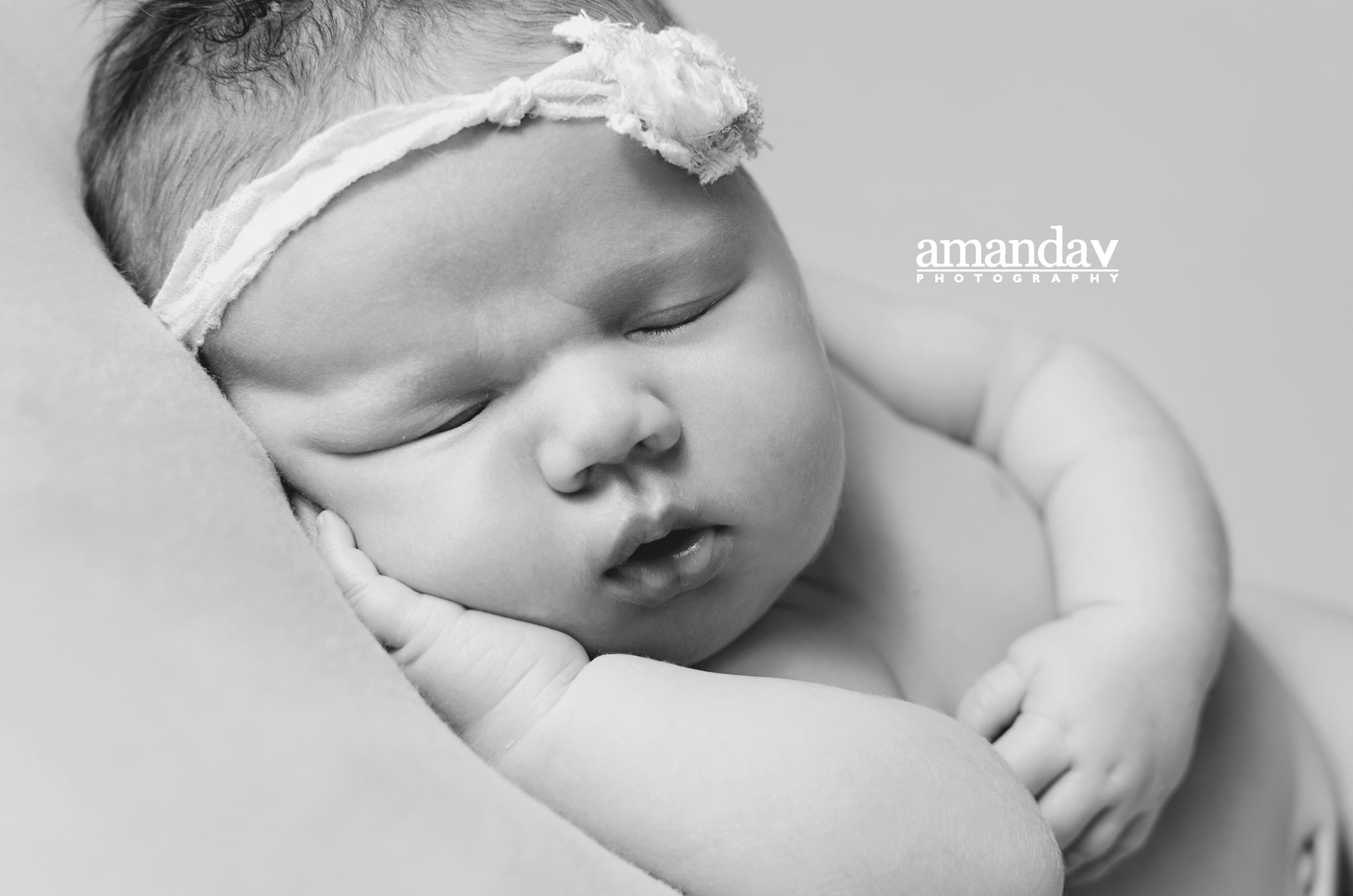beautiful newborn girl in Kelowna