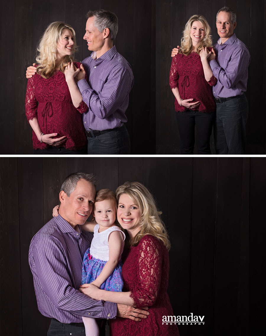 maternity family session in Kelowna studio