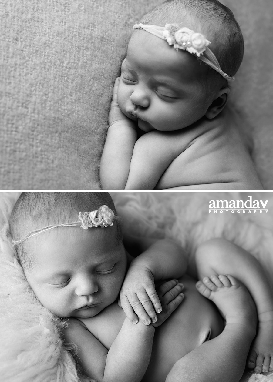 Curled up newborn in the Okanagan