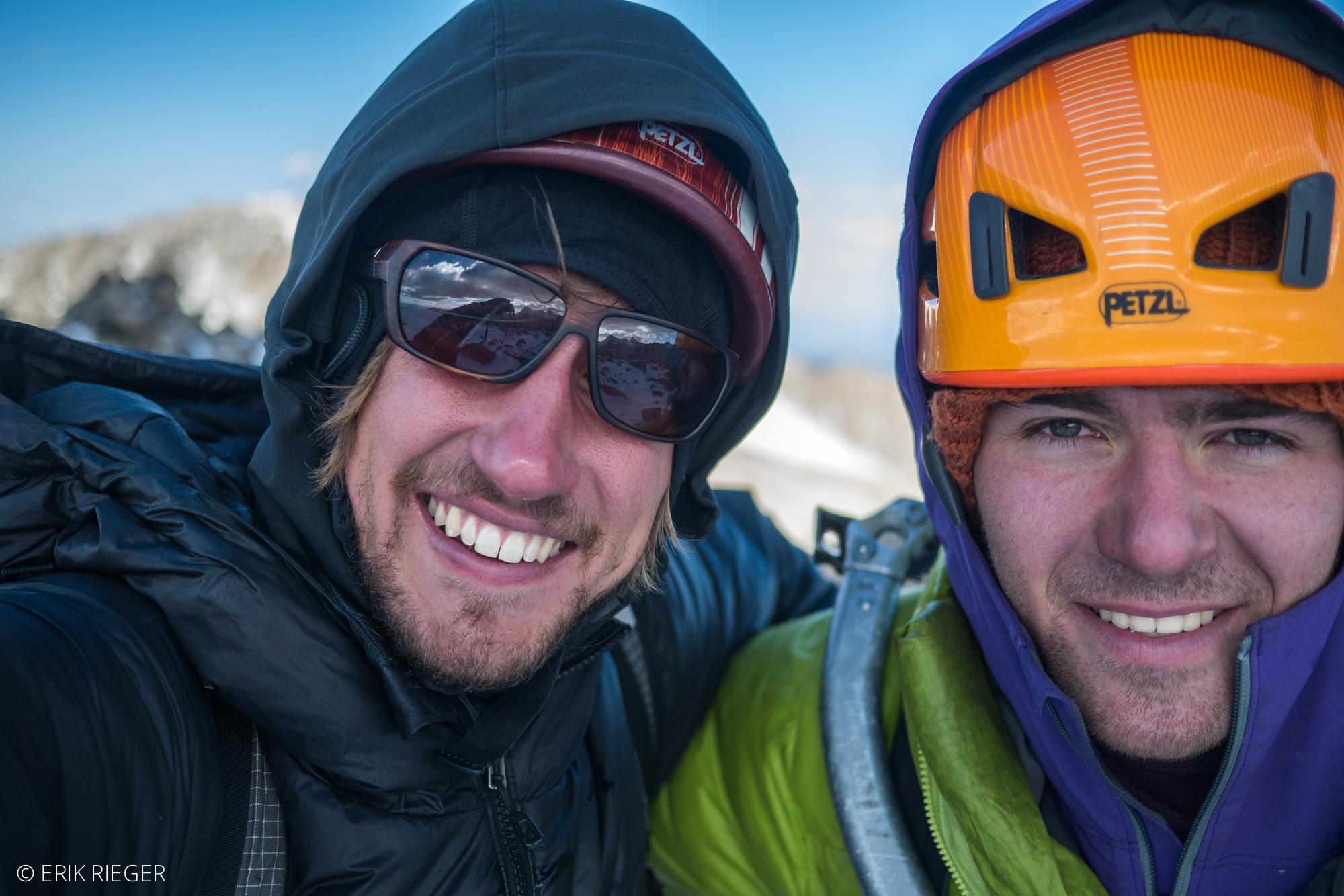 On the summit ofPeak 12,878'