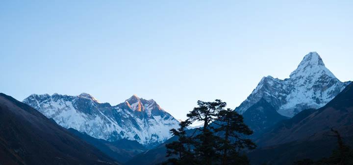 Lhotse and Ama Dablam