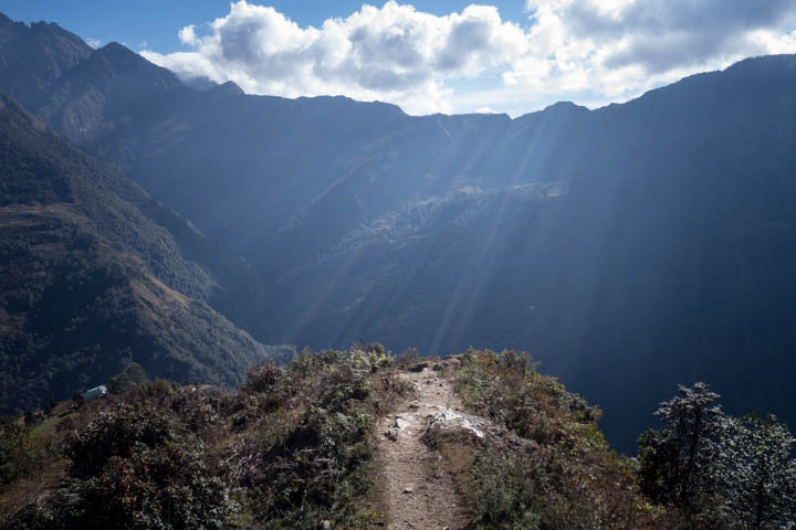 A few days' walk east of Lukla