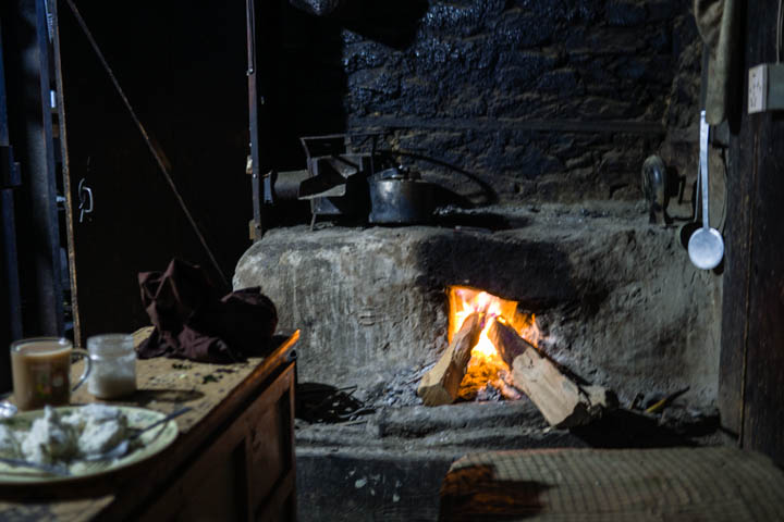 Fresh cheese and fire