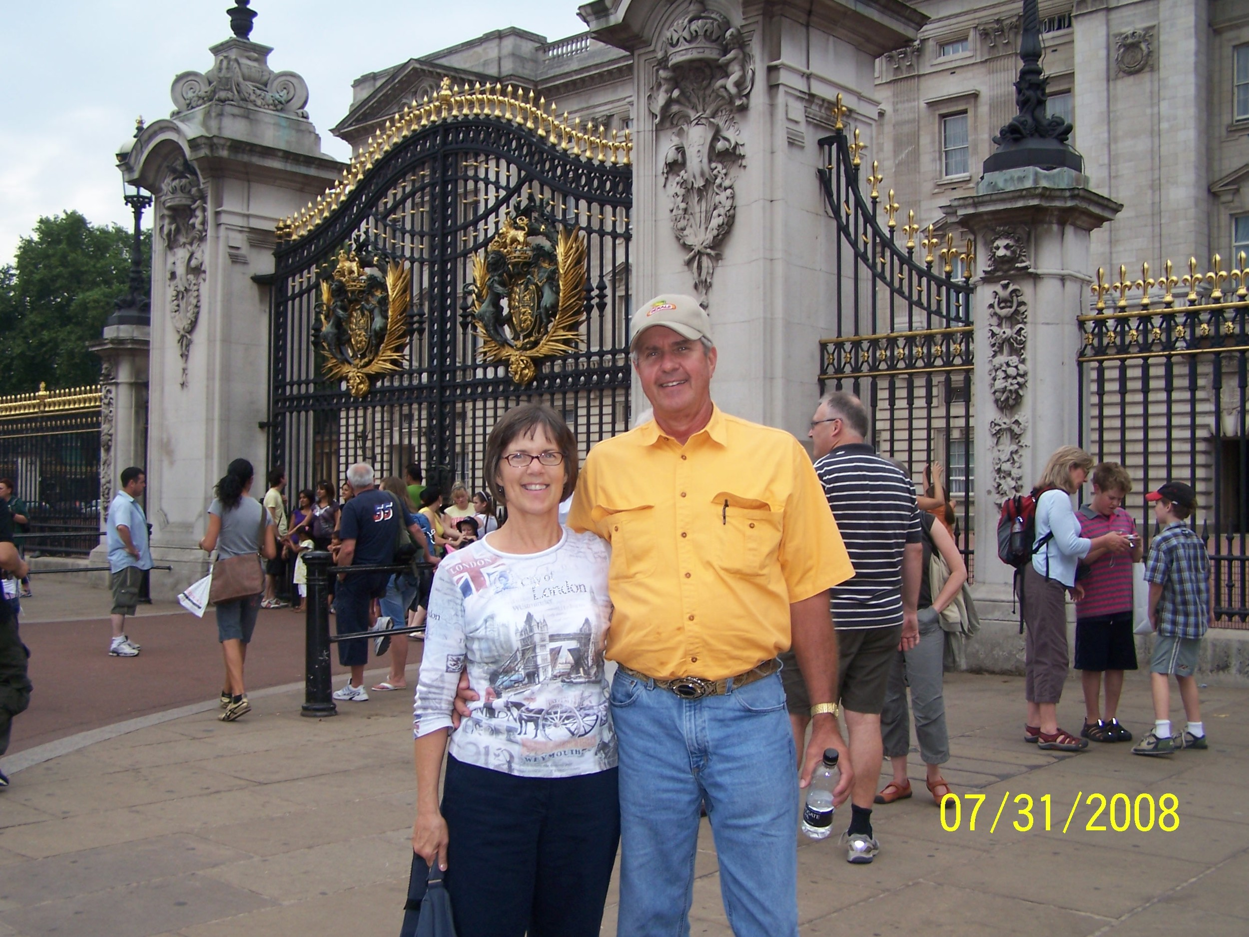 My wonderful parents during their layover in London on their 2008 trip.