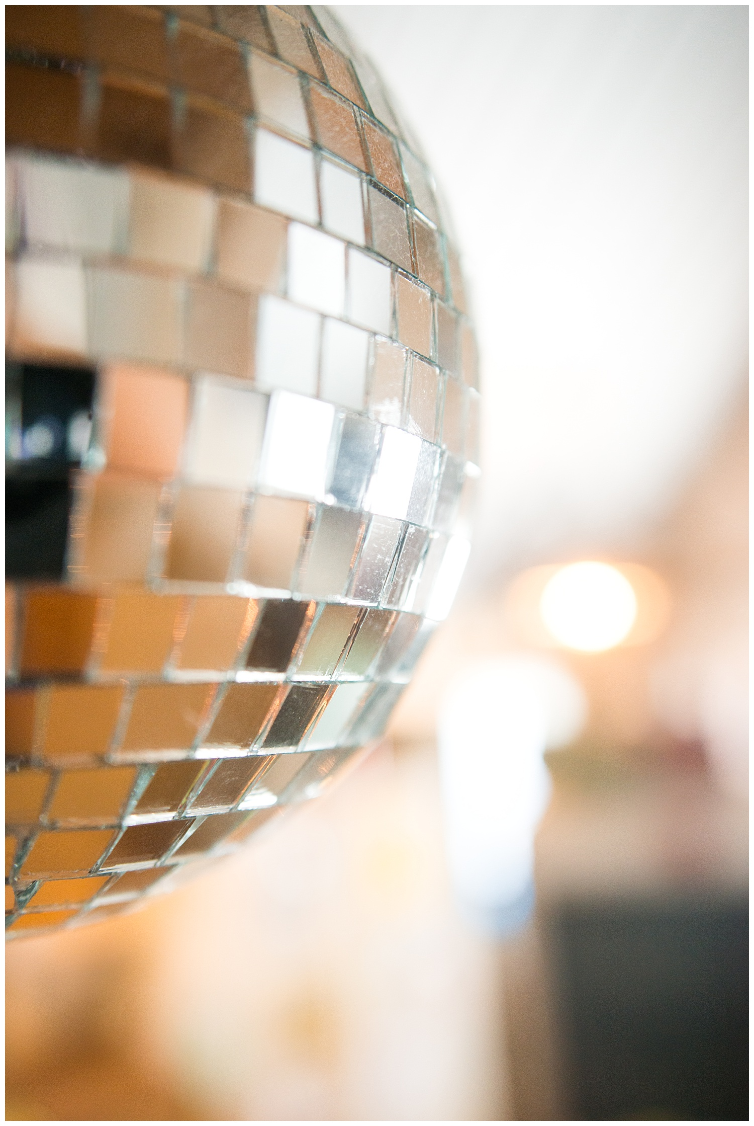 Of course she has a disco ball hanging in her home.