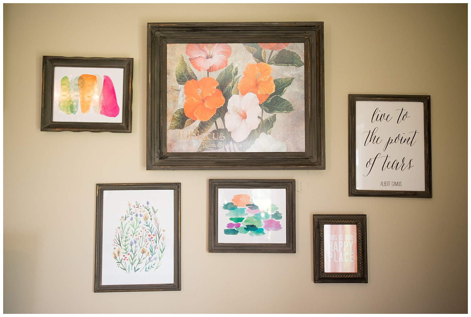 Speaking of frame sets.  This is one of many that adorn her walls.