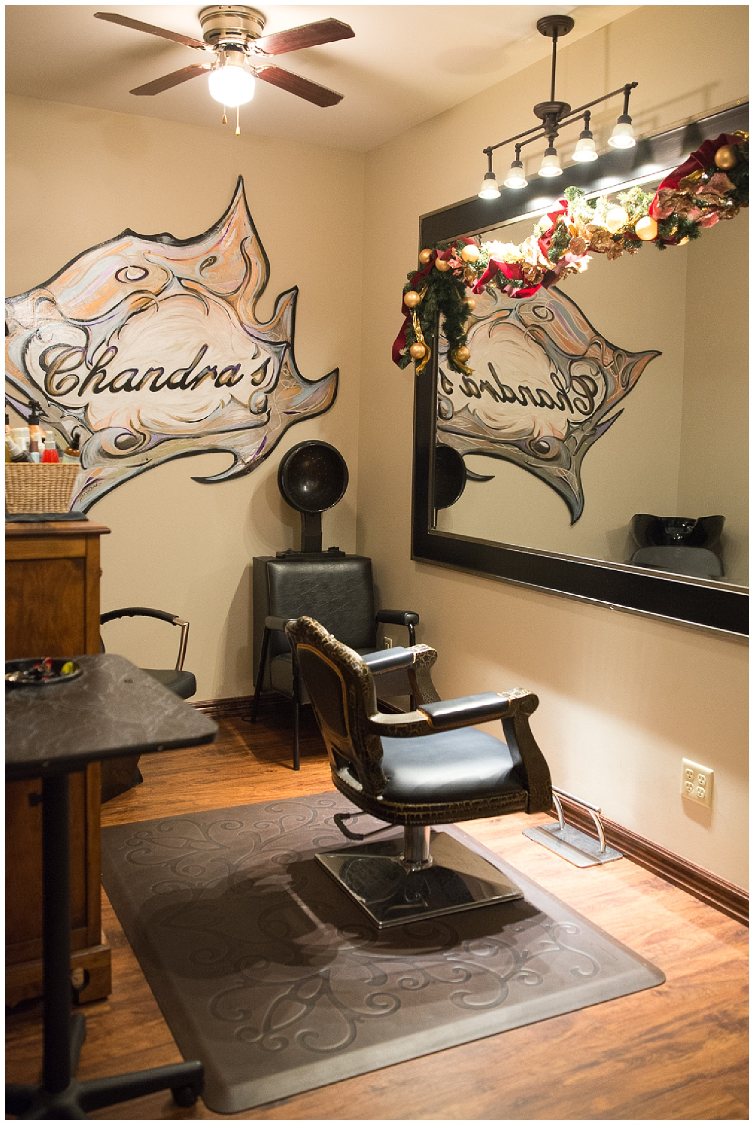 Part-time salon now, but slated to become storage for her Christmas décor later on in life.