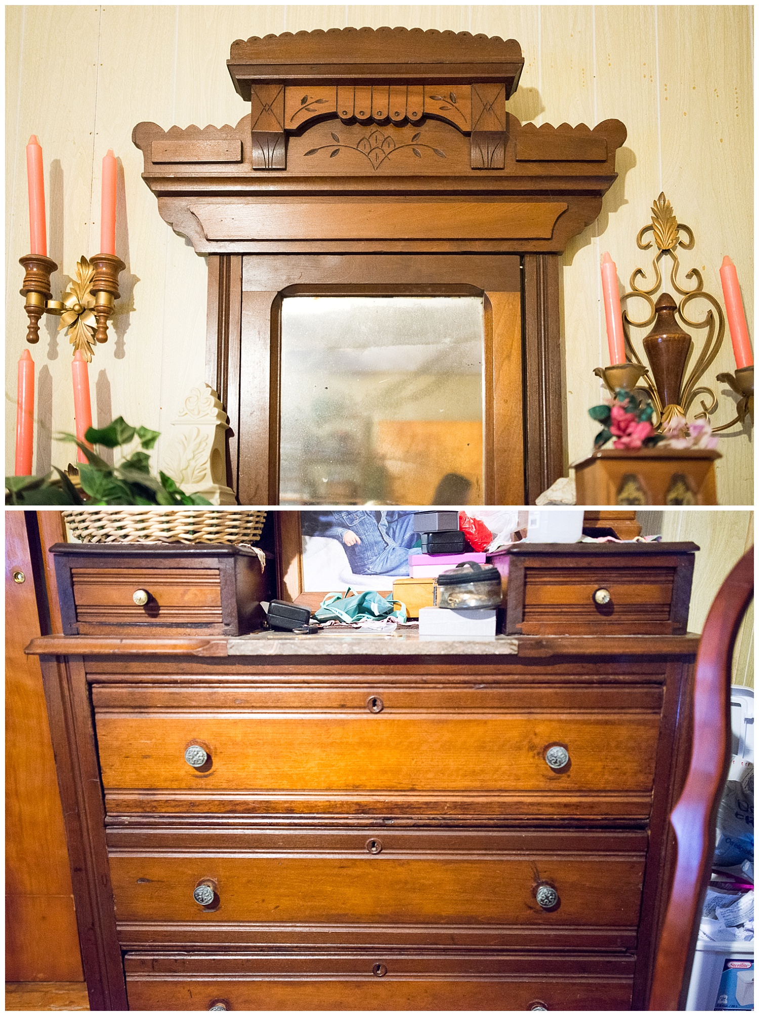 This Eastlake dresser from the Victorian era lives in Josephine's domain. If you ever have the pleasure of meeting Rick and if you're into period furniture, then be sure to ask him about his vintage and antique pieces. He's well versed in different architectural and design styles from all eras.