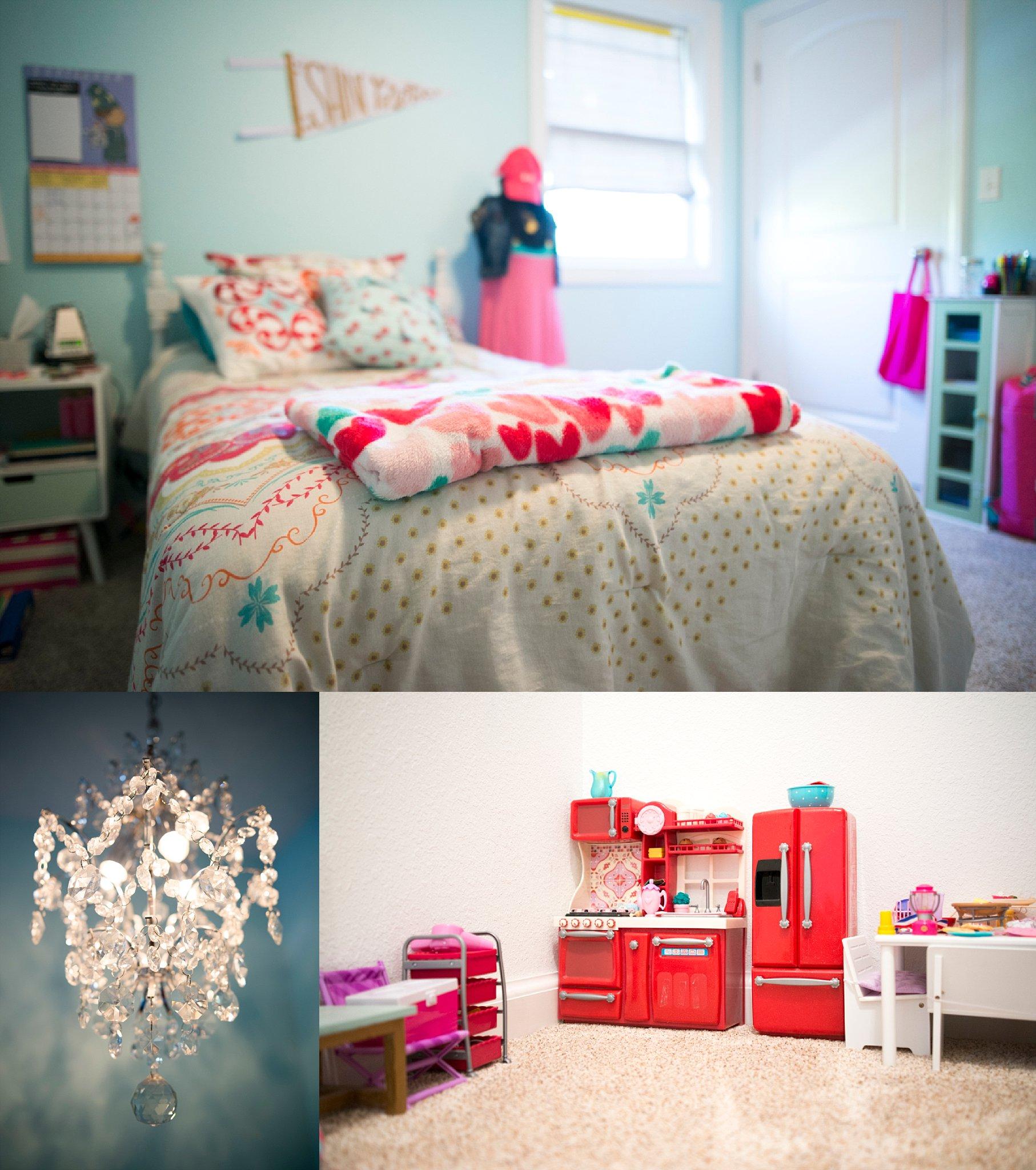 Sophia's blue room.