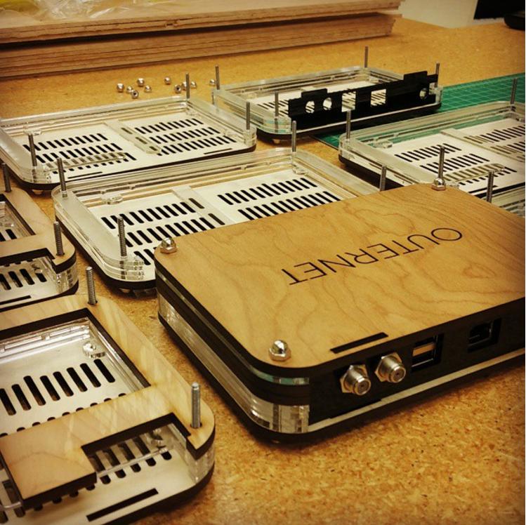 Branded modem cases for a startup