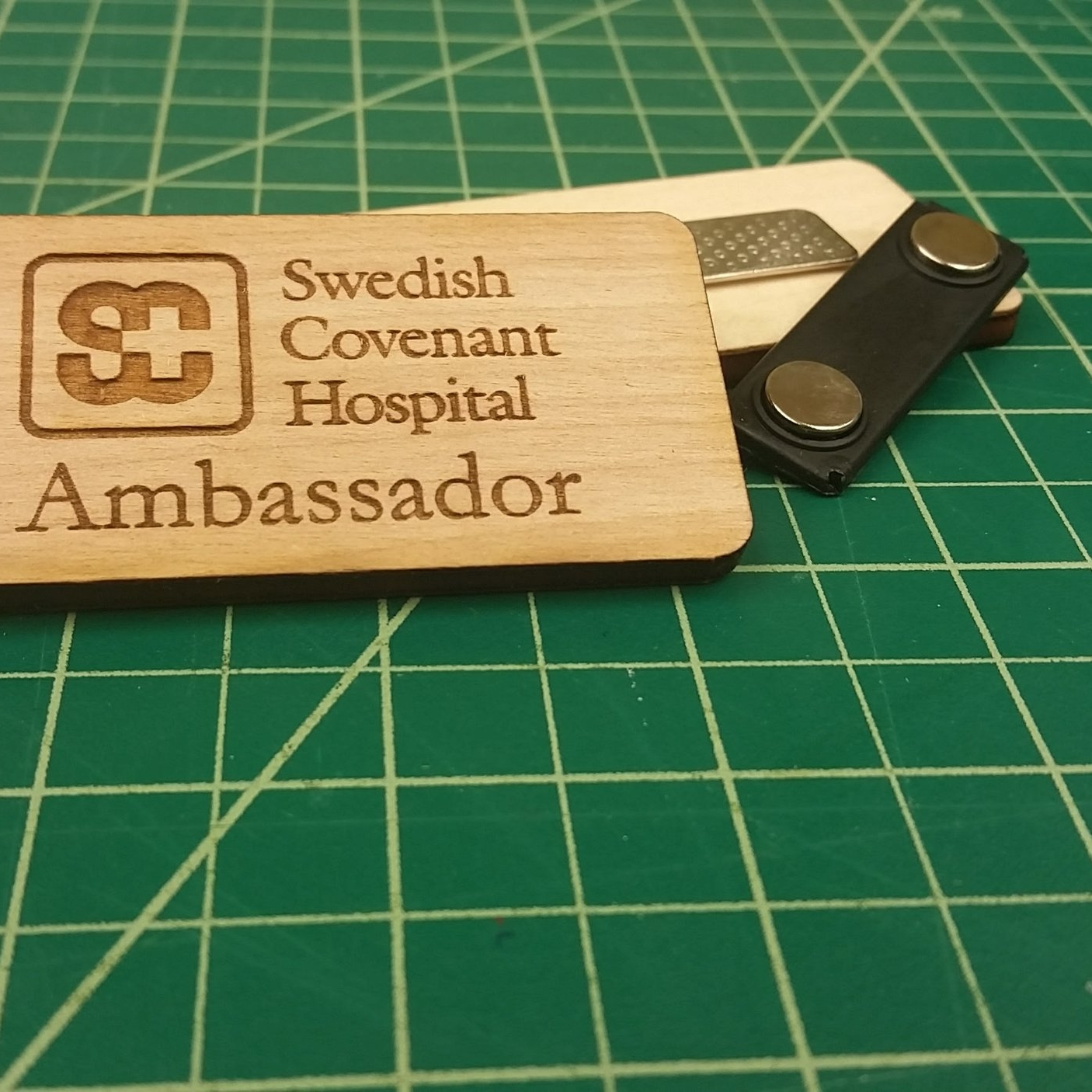 Magnetic-backed name tags