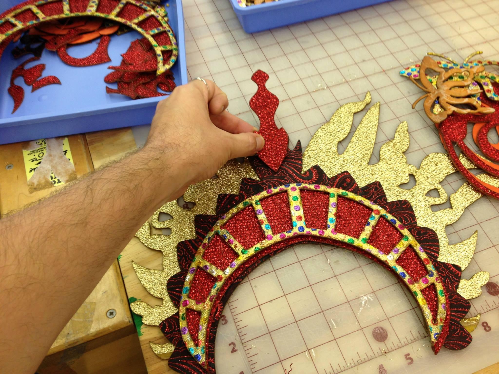 Lasercut pieces for intricate costume headpiece
