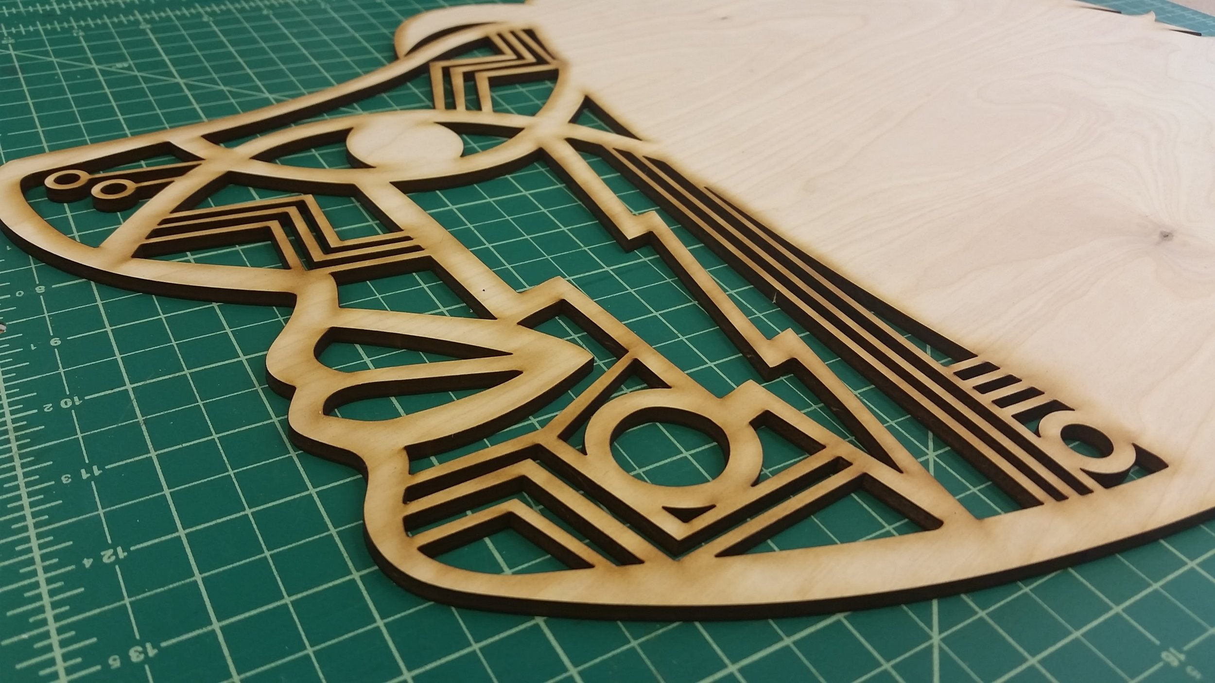 Intricate lasercut piece for shadow puppetry