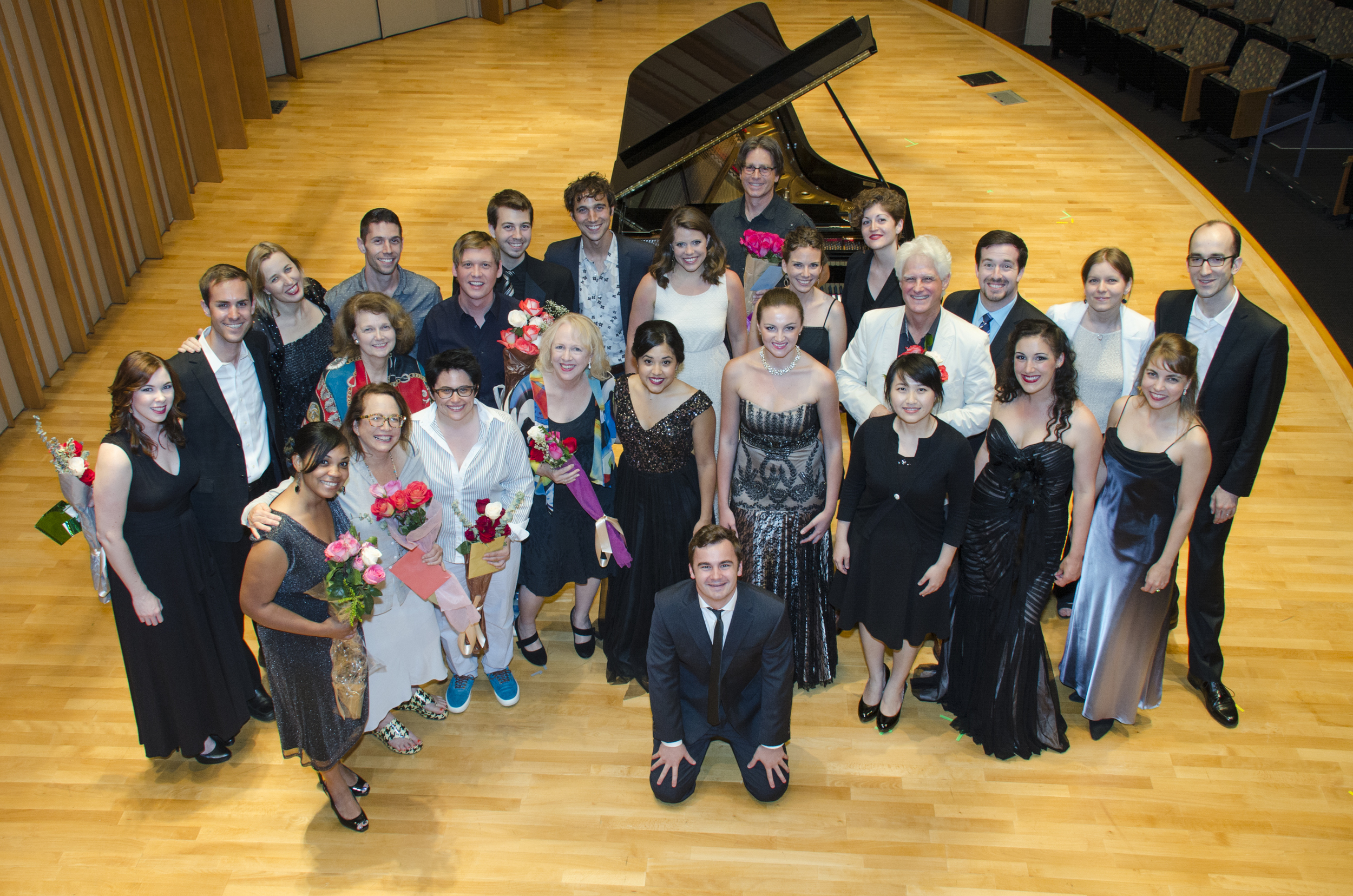 SongFest singers, pianists, faculty, and administration with the composers of the 2014 LA Composers concert.