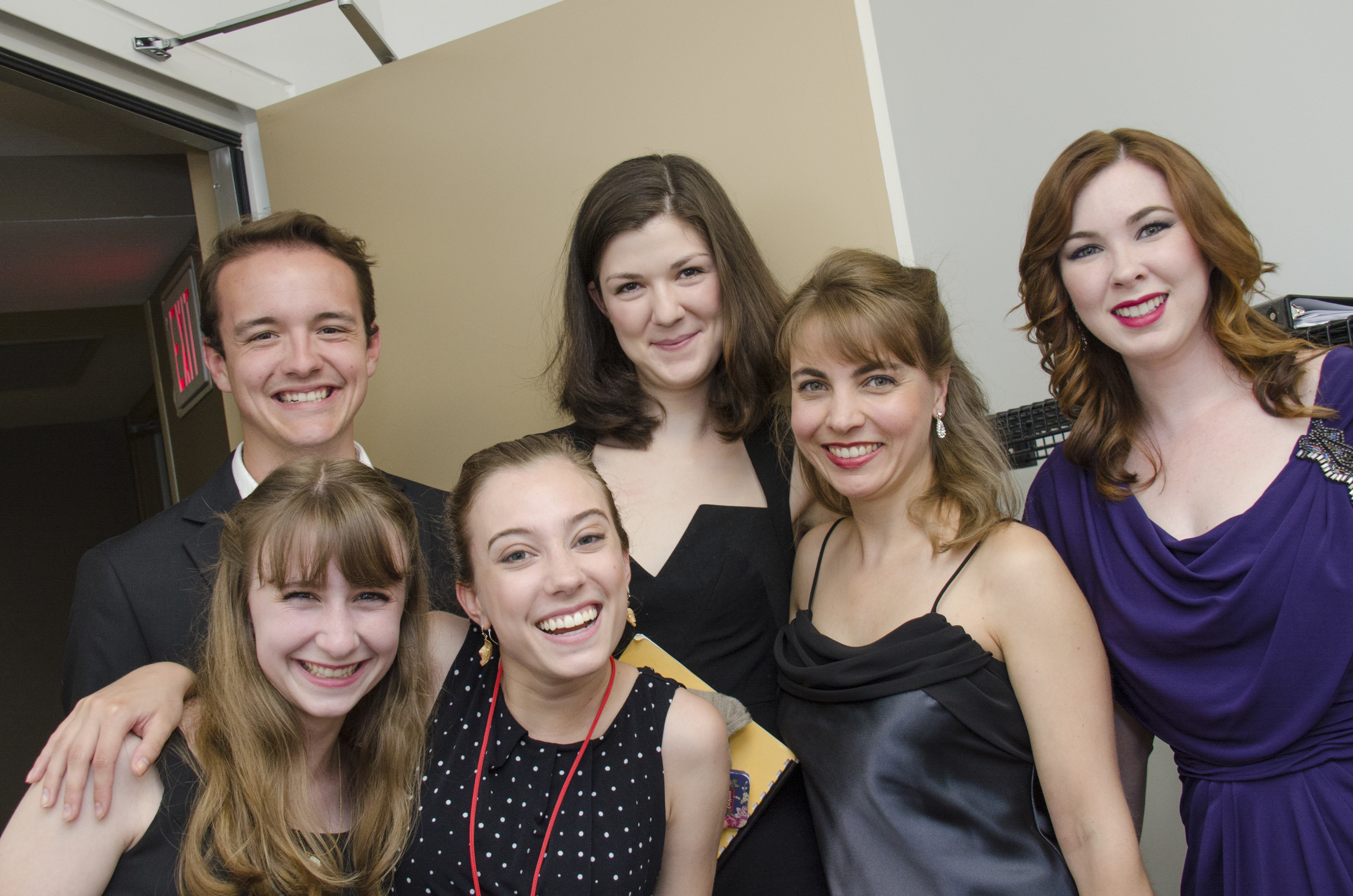 SongFest Professional, Young Artist, and Studio Artist program participants backstage at a concert