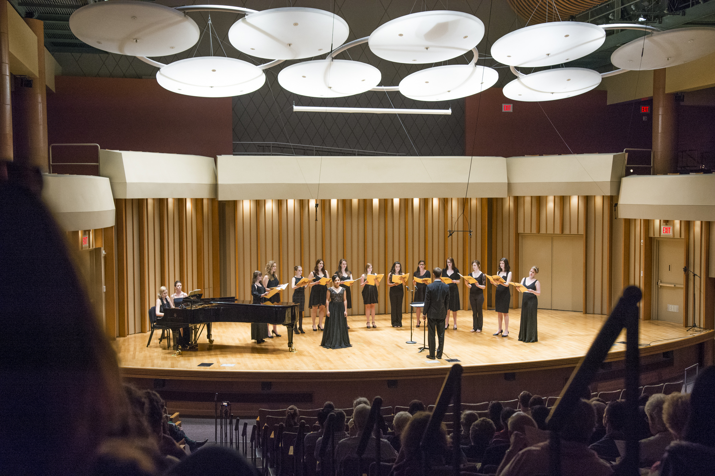 Participants performing in the LA Composers concert in Zipper Hall