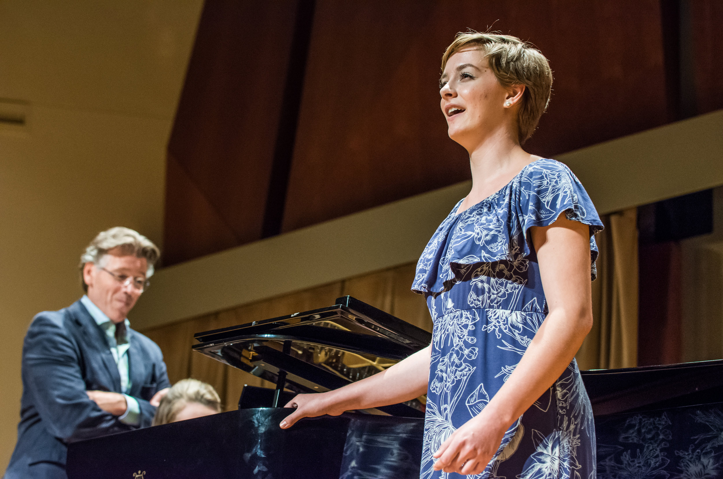 Young Artist Hailey McAvoy sings for Thomas Hampson in a master class.