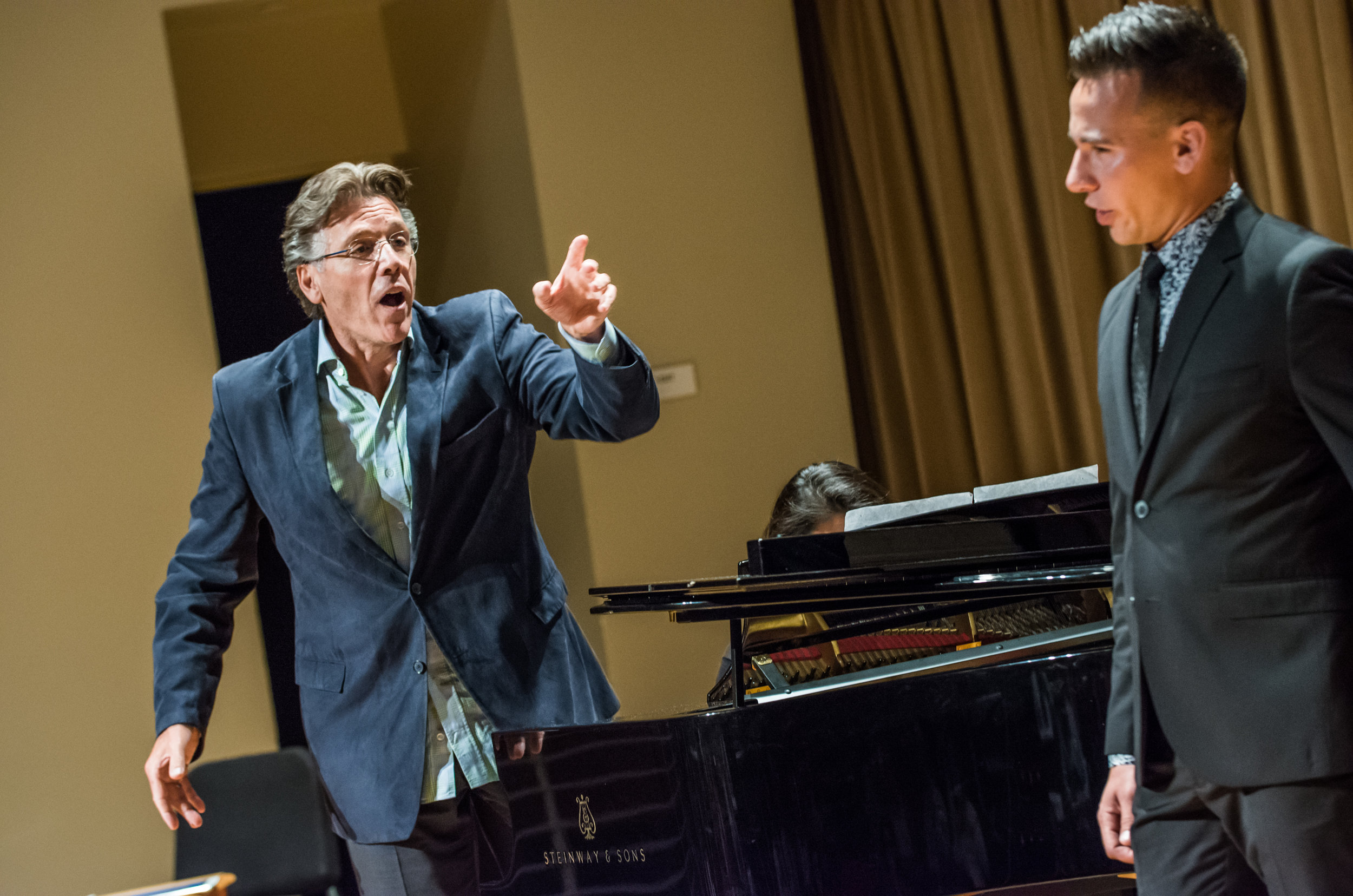2016 Professional Fellows pianist Jeong-Eun Lee and baritone Andrew McLaughlin with Thomas Hampson in a master class.