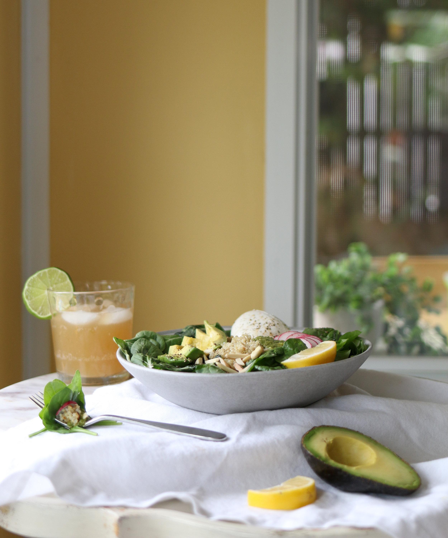You saved to Happy Place: Summer Burrata, Basil Pesto, & Quinoa Summer Salad. | Purposeful Plate