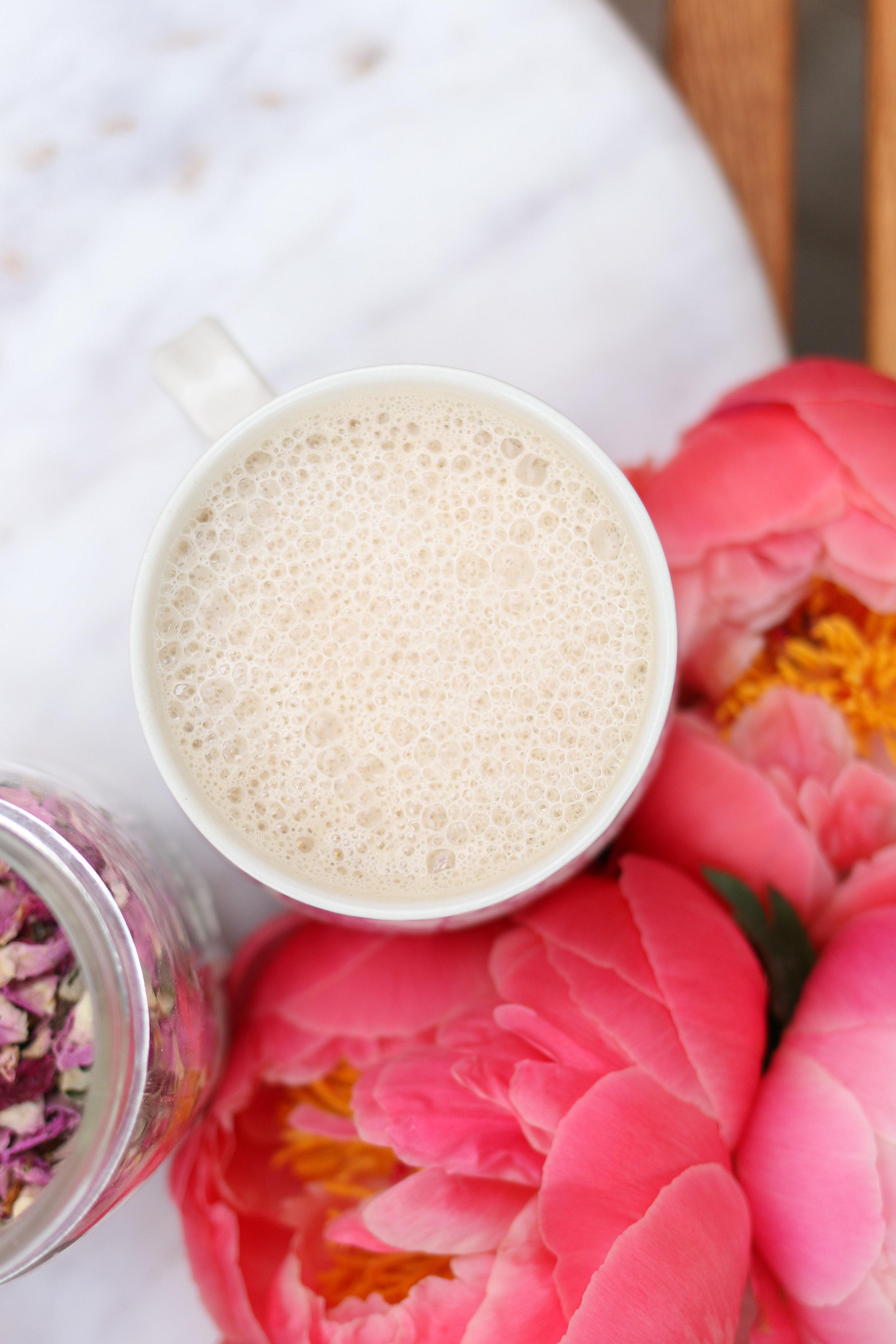 Earl Grey & Rose Tea Latte | Purposeful Plate