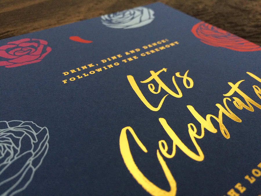 3 color screen print with 1 color gold foil