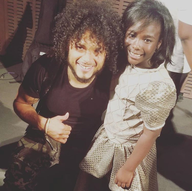 Pictured here- Anthony Flammia, Universal/Republic Records Artist and new emerging performer little Miss LonDon Sa'Rell Tompkins  at A Song For Life: A Sing Out Against Violence Benefit Concert at the MoMA in New York City.