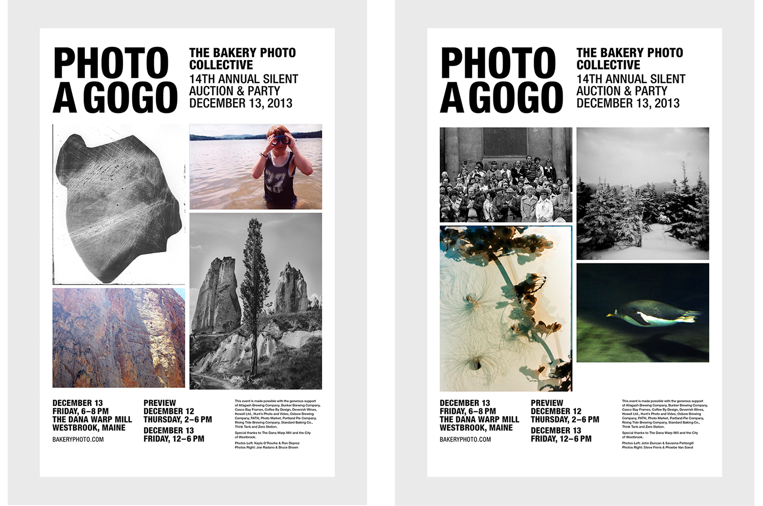 Posters for the 2013 Photo A Go-Go