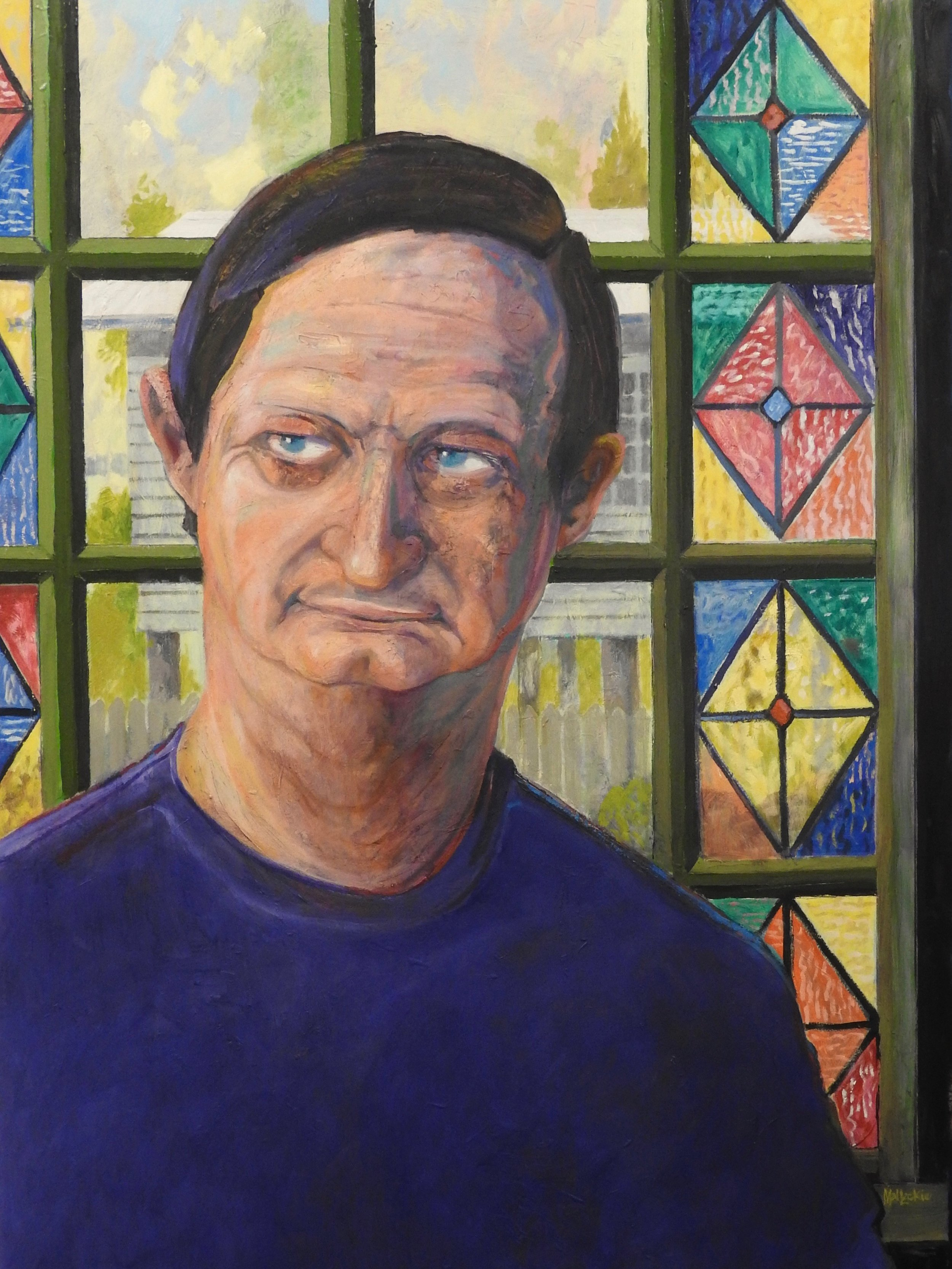Mal LECKIE - Victor Mace Art Dealer - Oil:canvas 135x100 2.jpg
