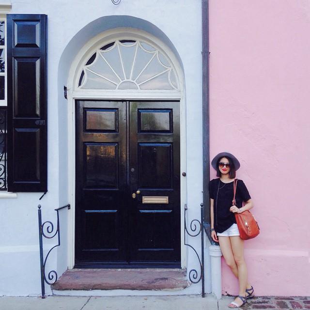Charleston chic on Rainbow Row